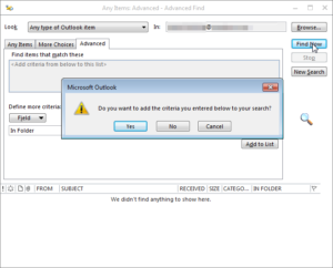 how to find lost folder in microsoft outlook