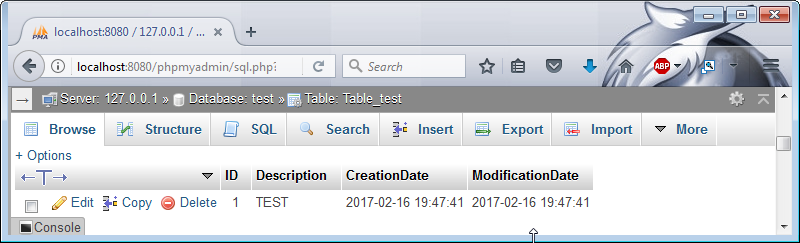 how to create table datetime mysql