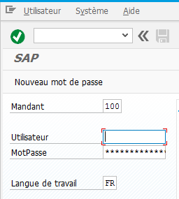 SAP change default language : SAP login screen in chosen language