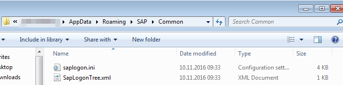 SAP Logon server list find and change the SAPlogon.ini : SAP saplogon.ini configuration file in explorer