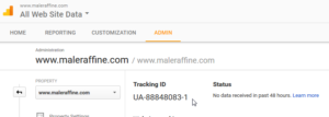 Google Analytics how to add a website to your account and get a Tracking ID : Get the new Tracking ID