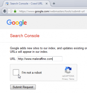How to add a website on Google for indexation : Submit URL in Google