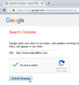How to add a website on Google for indexation : Submit website indexation request to Google