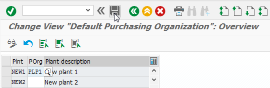 SAP Assign purchasing organization to company code and plant : Purchasing org entry for plant assignment