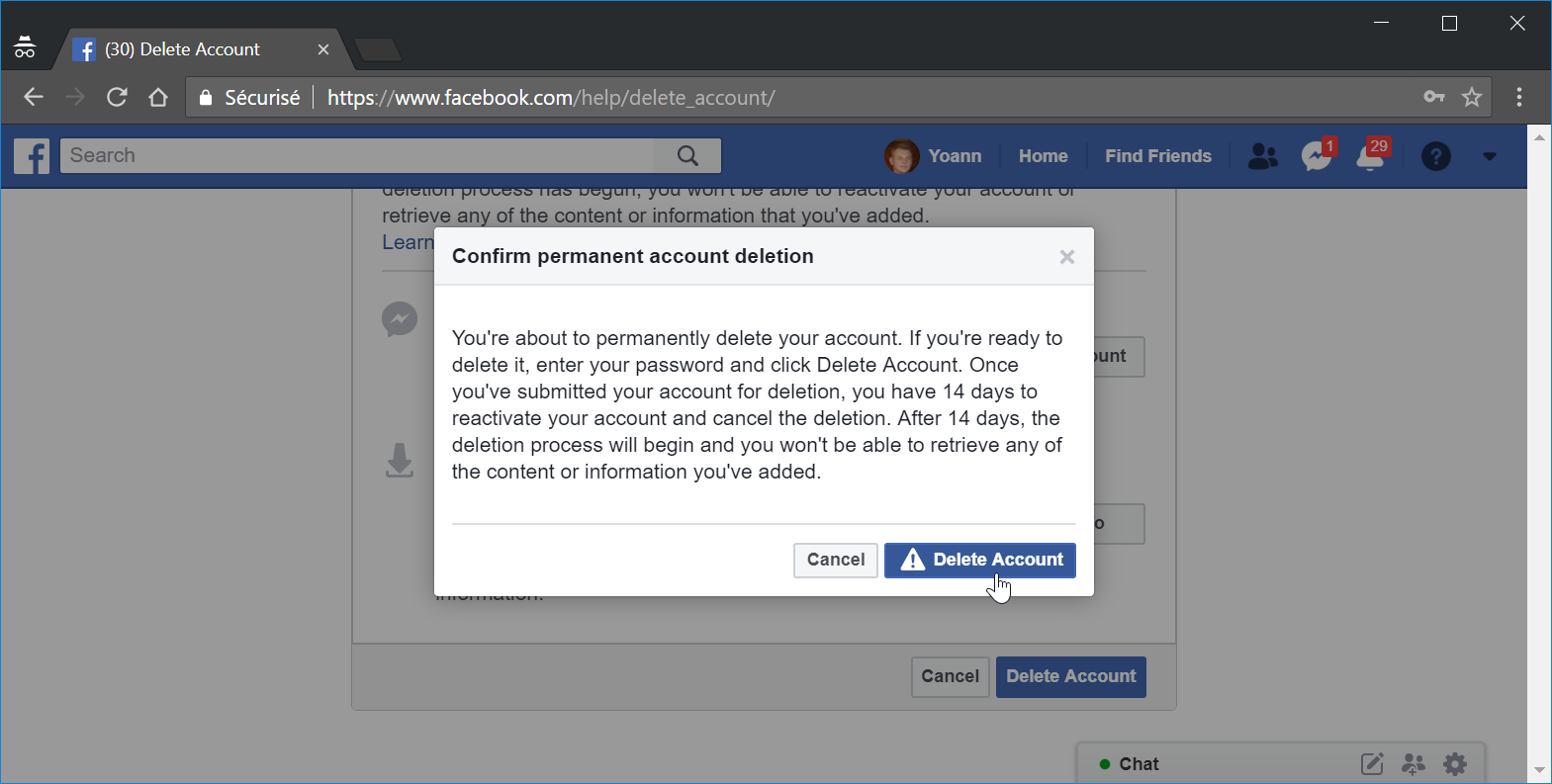 How do I delete my Facebook account : How to close Facebook account permanently
