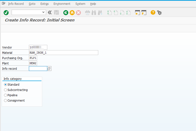 Purchase Info Record in SAP MM S4HANA