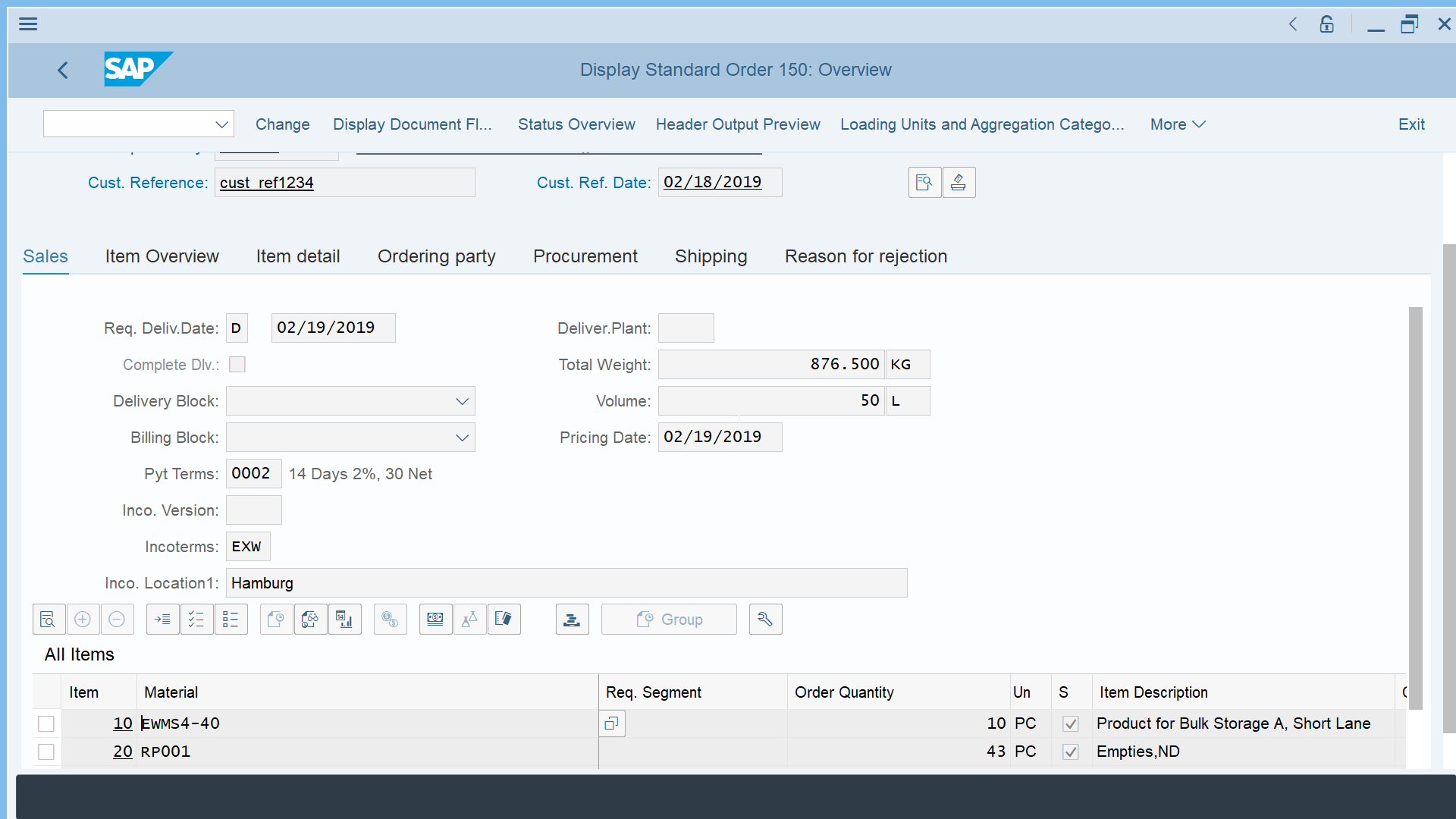 How to create sales order in SAP S/4 HANA