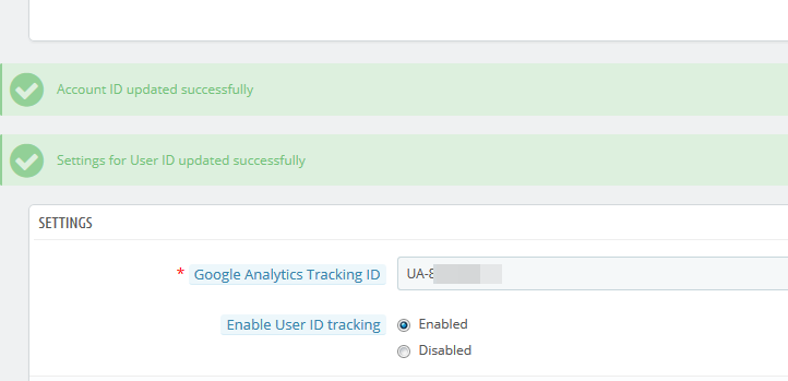Prestashop Google Analytics tracking
