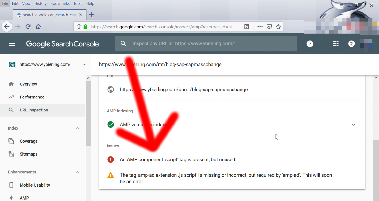 Solve the tag 'amp-ad extension .js script' is missing