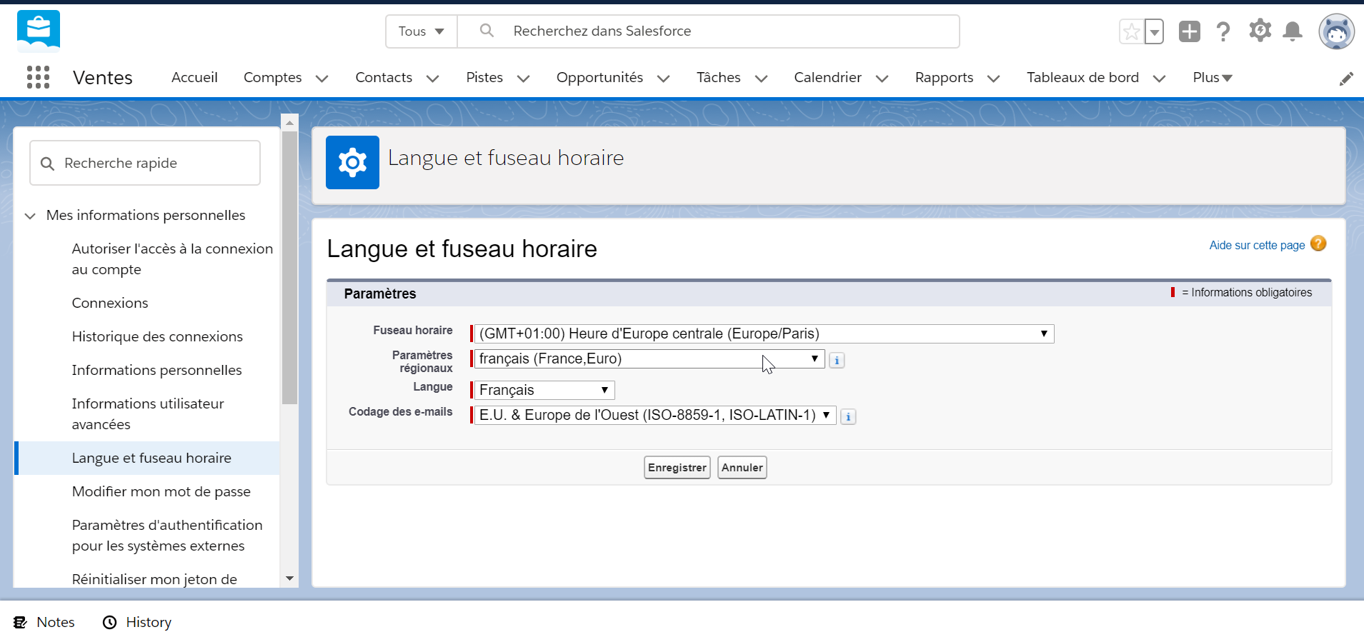 How to change language in SalesForce lightning?